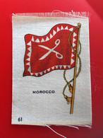 MAROC MOROCCO  Collectors Silk BDV Phillips Cigarettes Silks Flag Drapeau C1925-Insights-Godfrey Phillips Badge En Soie - Sigarette - Accessori