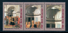 Art San Marino 1992 Painting, Piero Della Francesca, Christmas, 3 Stamps Michel # 1520-1522 MNH - Other