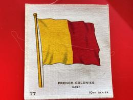 FRENCH COLONIES Collectors Silk BDV Phillips Cigarettes Silks Flag Drapeau C1925-Insights-Godfrey Phillips Badge En Soie - Sigarette - Accessori