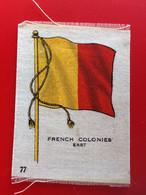 FRENCH COLONIES Collectors Silk BDV Phillips Cigarettes Silks Flag Drapeau C1925-Insights-Godfrey Phillips Badge En Soie - Zigarettenzubehör