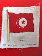 TUNIS TUNISIE  Collectors Silk BDV Phillips Cigarettes Silks Flag Drapeau C1925-Insights-Godfrey Phillips Badge En Soie - Zigarettenzubehör