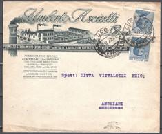 Italia Regno Busta Pubblicitaria Stab.Litografico Asciutti Firenze VF/F - Publicity