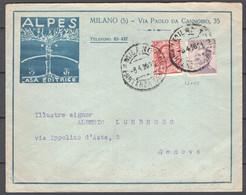 Italia Regno Busta Pubblicitaria Casa Editrice Alpes Milano VF/F - Publicity