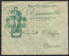 Italia Regno Busta Pubblicitaria Tipografia Emanuelli Sampierdarena VF/F - Publicity