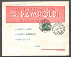 Italia Regno Busta Pubblicitaria Casa Editr.Musicale Rampoldi Como VF/F - Publicity