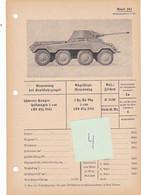 Char Panzer Tank Véhicule Blindé Puma Fiche Technique Datenblatt Allemande German - Vehicles