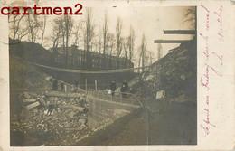 RARE CARTE PHOTO : ROUBAIX LE PONT DU FRESNOY APRES L'EXPLOSION BOMBARDEMENT GUERRE 59 NORD - Roubaix