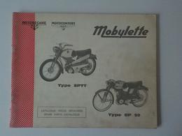 1974 Catalogue Pièces Détachées Mobylette Motobécane Motoconfort Type SPTT - SP50 Pantin France - Motorfietsen