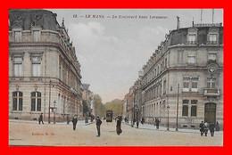 CPSM/gf (72) LE MANS.  Le Boulevard René Levasseur, Animé...L825 - Le Mans