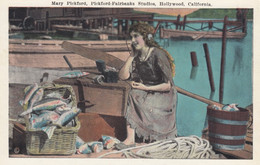 Mary Pickford Actress Radio Head-set, Pickford-Fairbanks Studios Hollywood California, C1910s/20s Vintage Postcard - Schauspieler