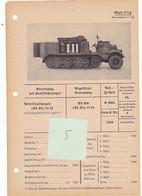 Chenille Halftrack Sd Kfz Nebelkraftwagen Fiche Technique Datenblatt Allemande German - Vehicles