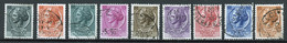 Italie - Italy - Italien 1953-54 Y&T N°648 à 655 - Michel N°884 à 891 (o) - Monnaie Syracusaine - Filigrane A - 1946-60: Usados