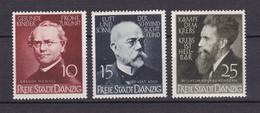 Danzig - 1939 - Michel Nr. 306/308 - Ungebr./Postfrisch - Danzig