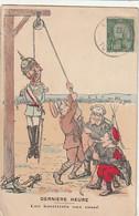 ***  MILITARIA ***  Caricatures Illustrateur Guerre De 14 / 18 Guillaume II Derniere Heure Les Hostilités Ont Cessé - TB - Personajes