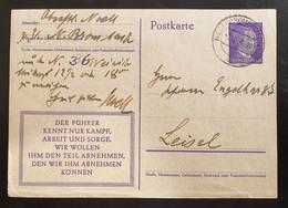 Deutsches Reich 1943, Postkarte P312 Bild 08 NIEDERBROMBACH(NAHE) Selten! - Brieven En Documenten