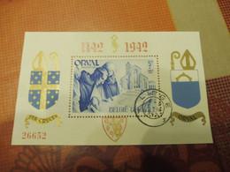 Belgique Bloc 20 Orval Numeroté  Dentelé Oblitéré / Belgie Blok Getand Genummerd Gestempelt Mooie 1942 Liege - Blocks & Sheetlets 1924-1960