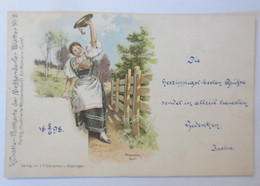 Künstlerkarte, Frauen, Trachten, 1898, Meggendorfer Blätter Nr.2 ♥  (74432) - Illustrators & Photographers