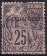 GUADELOUPE - 25 C. Oblitéré GUADELONEP Signé Gilbert - Usati