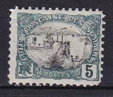COTE DES SOMALIS - 5 C. Neuf Avec Centre Renversé - Tirage Clandestin - Neufs