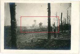 Carte Photo.51(MARNE)Saint Souplet Sur Py. Sprengung Granaten Kampf. Chamapgne 7-16.Soldats Allemande Guerre 14-18.WWI - Non Classificati