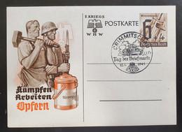 """Deutsches Reich 1940, Postkarte P291 """"Winterhilfswerk"""" CRIMMITSCHAU Sonderstempel - Covers & Documents"""