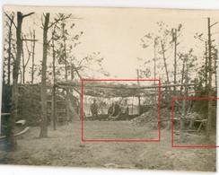Photo.51(MARNE)Saint Souplet Sur Py. WALDSTELLUNG .Artillerie  Chamapagne 12-16.Soldats Allemande Guerre 14-18.WWI - Non Classificati