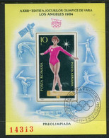 ROMANIA 1984 Olympic Games, Los Angeles Block Used.  Michel Block 204 - Blocks & Sheetlets