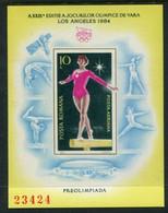 ROMANIA 1984 Olympic Games, Los Angeles Block MNH / **.  Michel Block 204 - Blocchi & Foglietti