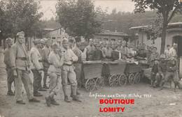 Militaire Cpa Carte Photo La Foire Au Camp Bitche 1920 - Barracks
