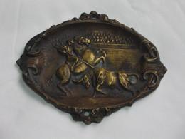 Superbe Cendrier En Bronze - Scène De Corrida    **** EN ACHAT IMMEDIAT **** - Ohne Zuordnung