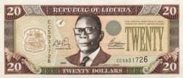 Liberia 20 Dollars, P-28a (2003) - UNC - Liberia