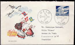 Norge - 1961 - FDC - SAS - Envoyé En France - A1RR2 - Covers & Documents