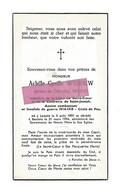 DD 315. ACHILLE CYRILLE WYDOUW  - Ancien Combattant Et Invalide De Guerre 1914/18 - °LEISELE 1891 /+BAULERS 1954 - Andachtsbilder