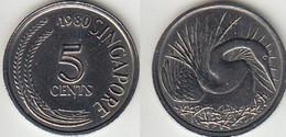Singapour -  5 Cents - 1980 - Singapore