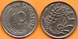 Singapour -  10 Cents - 1981 - Singapore