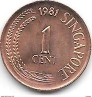 Singapour -  1 Cent - 1981 - Singapore