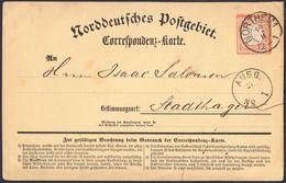 BRUSTSCHILD Nr.14 Als EF Auf NDP-Correspondenz-Karte Mit Hannover-K2 NORTHEIM Geprüft Sommer BPP (bb20) - Gebruikt