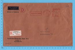 Nederland - EMA Rotterdam 8 XI 65, 165 Cents, Postbus 949 Postmark, Registered, Bank N.V. To Montreal Canada - Marcofilia - EMA ( Maquina De Huellas A Franquear)