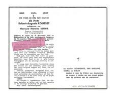DD 328.ROBERT-AUGUSTE  ROUSSET - Reserve Kommandant / Oud Krijgsgevangene - °LAKEN 1913 + TONGEREN 1967 - Andachtsbilder