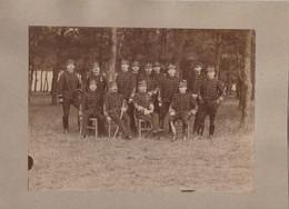 Grande Photo Sur Carton  Le Groupe Des Batteriers à Cheval - Nancy (54)  24°, 27°, 34° Avec Lieutenant Geiger 1915 - Guerra, Militares