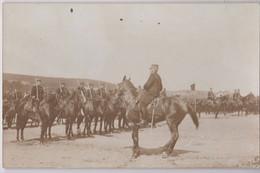 Carte Photo Général Chateau Revue Du 20 ème D'Artillerie De Poitiers Au Camp De La Courtine 1913/14 - Guerra, Militari