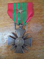 CROIX DE GUERRE 1939 1940 1 Citation WW2 - France