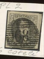 6 Ø  Cotelé  Bord De Feuille  PL.2 - 1851-1857 Medallions (6/8)