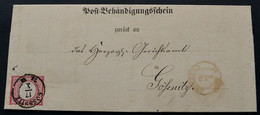 BRUSTSCHILD Nr.19 Als EF Auf Post-Behändigungsschein Mit Sachsen-K2 GÖSSNITZ Im Ortsverkehr (bb20) - Gebraucht