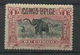 49  1,-Fr   Typo  Eléphant Charnière * Cote 38,-E - 1894-1923 Mols: Postfris