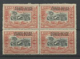 47 *bloc De 4 Du 3F50  Typo Les 4 Avec Charnière  *  Cote 220,-E - 1894-1923 Mols: Postfris