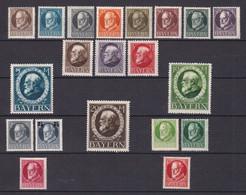 Bayern - 1916 - Michel Nr. 94/115 A - Ungebr. - Beieren