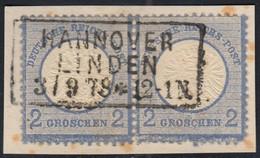 BRUSTSCHILD Nr.20 Waagerechtes Paar Sauberer NDP-Ra3 HANNOVER LINDEN (bb20) - Gebruikt