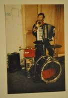 Photo Photographie Musique Homme Orchestre Faisant La Manche Trompette Accordéon - Anonieme Personen