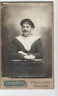 TOULON - PHOTO LEENAERTS - CDV Fin XIX ème - Marin Du Cuirassé MIRABEAU - Guerre, Militaire